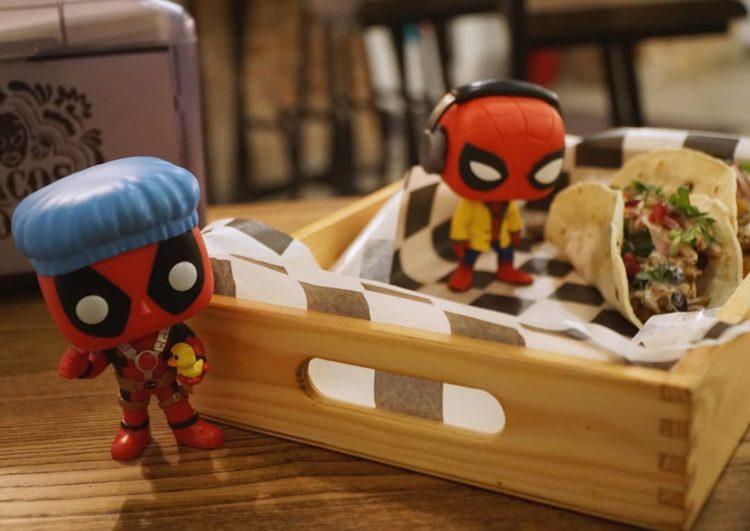 Funko Pop Deadpool Spider-man tacos